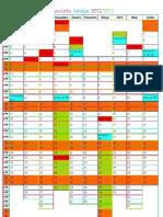 Calendário Escolar 2012-2013