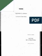 El Ensayo Como Forma - Theodor Adorno