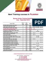 1 BV+Training+Schedule+Jul+ +Sep+2012