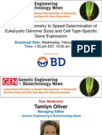 Using Flow Cytometry to Speed Determination of Eukaryotic Genome Sizes and Cell Type-Specific Gene Expression