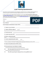 kiw ojt questionnaire june 2011