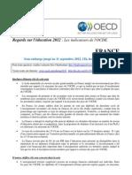 La note de l'OCDE sur l'éducation en France - 2012