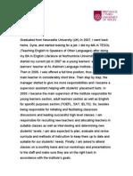 MBA Personal Skills Development - Formative