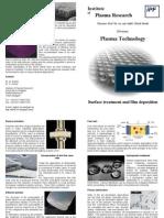 Flyer Plasmatechnology Applications