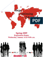CE Spring Schedule 2009 for Web