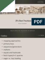 Jp a Best Practices