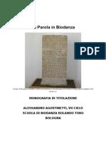 La Parola in Biodanza - Monografia Di Titolazione Anno 2012 Scuola Di Bologna