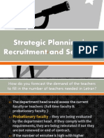 Strategic Planning-Recruitment and Selection
