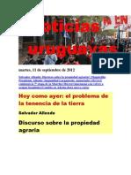 Noticias Uruguayas Martes 11 de Setiembre Del 2012