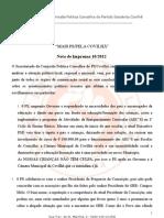 Nota de Imprensa 10- 2012[1] Final[1]