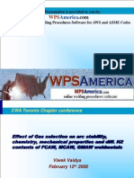WPSAmerica Shielding Gases and Mechanical Properties