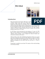 Pepsi Shamim Co Report