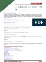 Requisitos de instalación de Oracle 10g standar edition