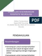 Gangguan Keseimbangan Perspektif Neurologi