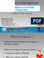 Case Study On Fitness Plus (Operation Management)