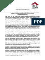 Press Release IMWU NL Atas Lokakarya 9-9-12