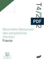 Baromètre Manpower perspectives d'emploi_Q4_12