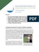 Focus Fusion Report, June 26, 2012-Public