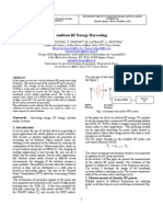 Ambient RF Energy Harvesting