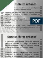 Espaços Livres Urbanos