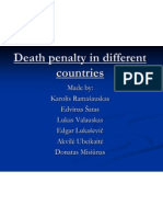 Death Penalty in Different Countries