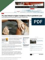 The Flu Shot Caused Flu Pandemic and Created More Flu in Canada