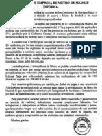 Comunicado - Comité de Empresa Metro de Madrid