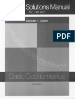 Basic Econometrics Solutions Manual