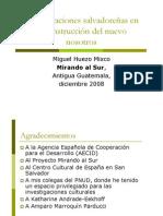 Las Migraciones Salvadoreñas y La Construcción Del Nuevo Nosotros