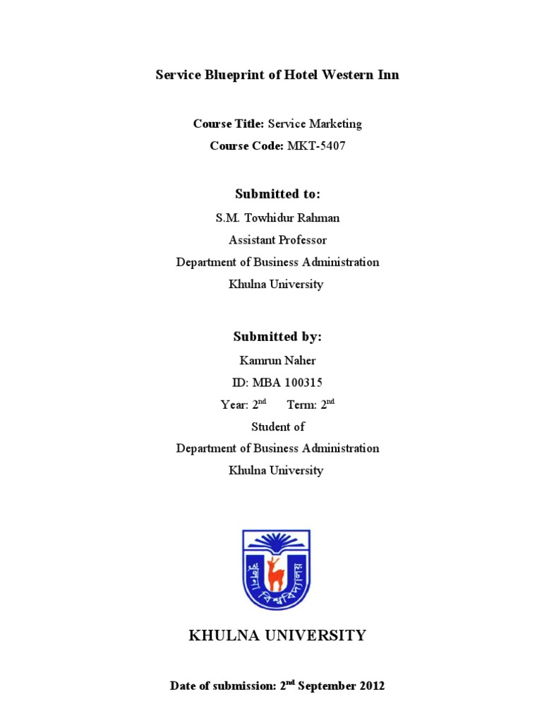 Blueprint of hotel service master of business administration foods malvernweather Images