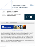 Dept of Natural Resources Spatial Ecologist