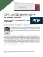 HP-HMG vs rFSH en Tratamientos Combinados de Ciclos IVF