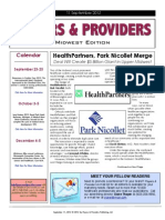 Payers & Providers Midwest Edition – Issue of September 11, 2012
