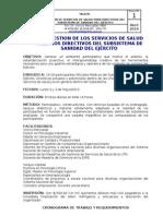 GESTIÓN SERVICIOS DE SALUD