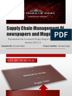 Times of India - Supply Chain Management of Newspapers and Magazines