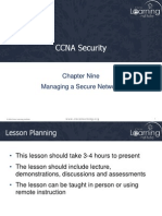 Chapter 9 - Managing a Secure Network