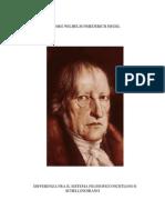 Hegel - Differenza Fra Il Sistema Filosofico Di Fichte e Di Schelling