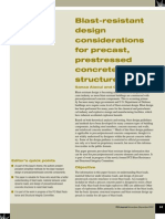 Blast-Resistant Design Considerations for Precast Prestressed Concrete Structures