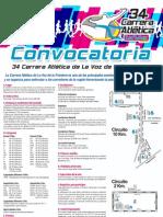 Convocatoria para la 34 Carrera Atlética de La Voz de la Frontera