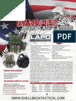 Banshee Plate Carrier- Spec Sheet- SHELLBACK TACTICAL