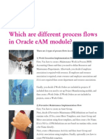 Oracle EAM - Different Process Flows in Oracle EAM