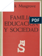 Musgrove, Frank - Familia, Educacion y Sociedad