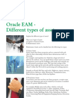 Oracle EAM - Different Types of Assets