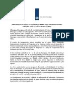 Comunicado de Prensa - Foro Audiovisual Con PNN - 26 de Julio 2012(1)
