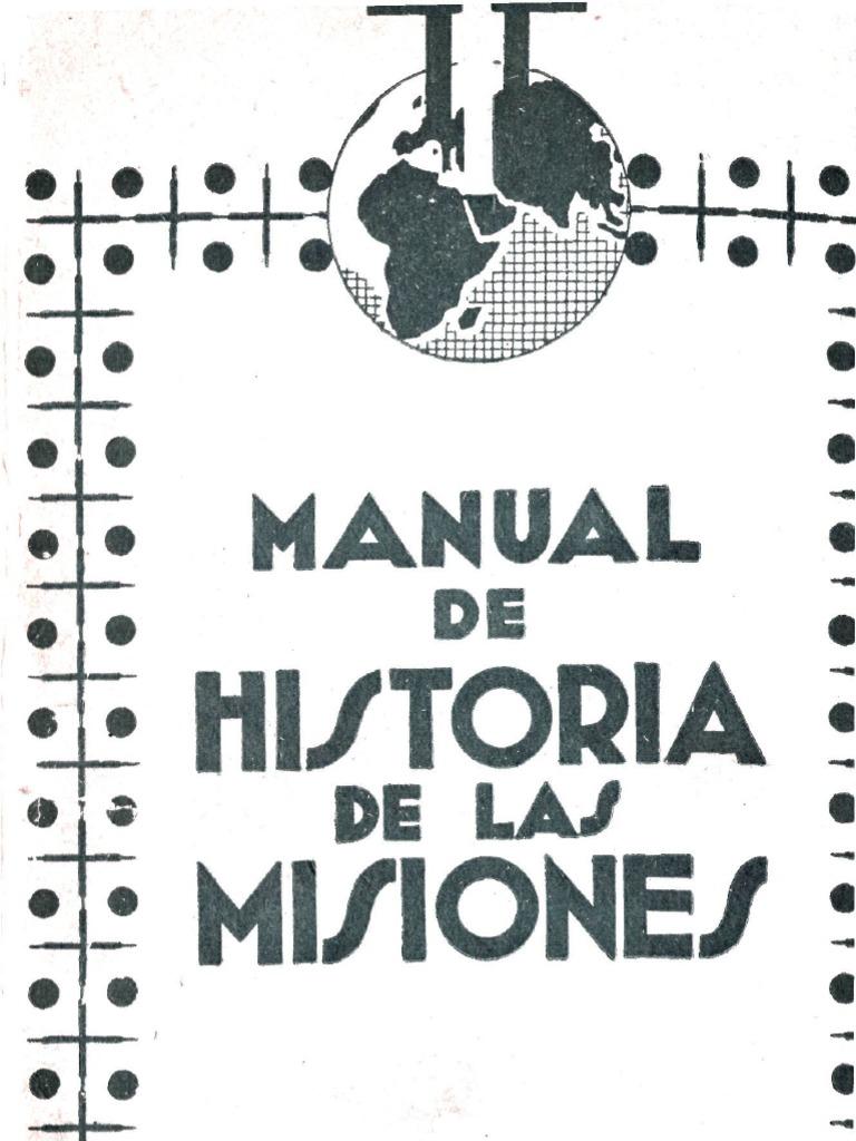 Montalban Francisco J Manual De Historia De Las Misiones