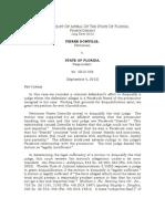 Domville v. Florida, No 4D12-556 (Fl. Ct. App.; Sept 5, 2012)