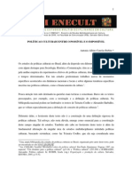RUBIM, Antonio- Politicas Culturais Entre o Impossivel e Possivel