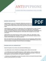 AntispyphoneM v20 Manual en Electronic Version