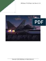 DSB Design YF-22A Raptor Manual