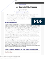 Campbell - Weblogs for Use in ESL Classrooms (TESL_TEFL)